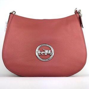 Coach F31400 Pink Elle Pebbled Leather Hobo Bag